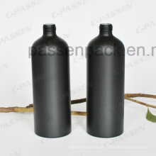 500ml Matte Black Garrafa de Alumínio Cosmético para Fragrância Perfume (sand blasted)