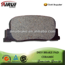 D835 high quality brake pad