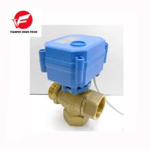 CR04 24v 220v brass DN15 DN20 CWX-15N 3 way motorized valve