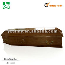 hardwood coffin for the dead