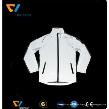 desgaste branco do vestuário da segurança da tela dos vestuários reflexivos do vis do branco da prata olá!