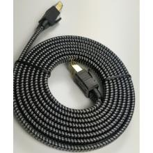 Cable de red plano trenzado de nailon de alta velocidad Cat8