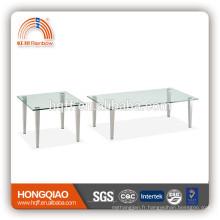 CT-05 ET-05 table basse moderne en verre d'acier inoxydable