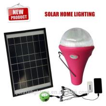 Melhor preço produto solar para 2015, emergência solar conduziu a luz com controlador remoto & carregador móvel