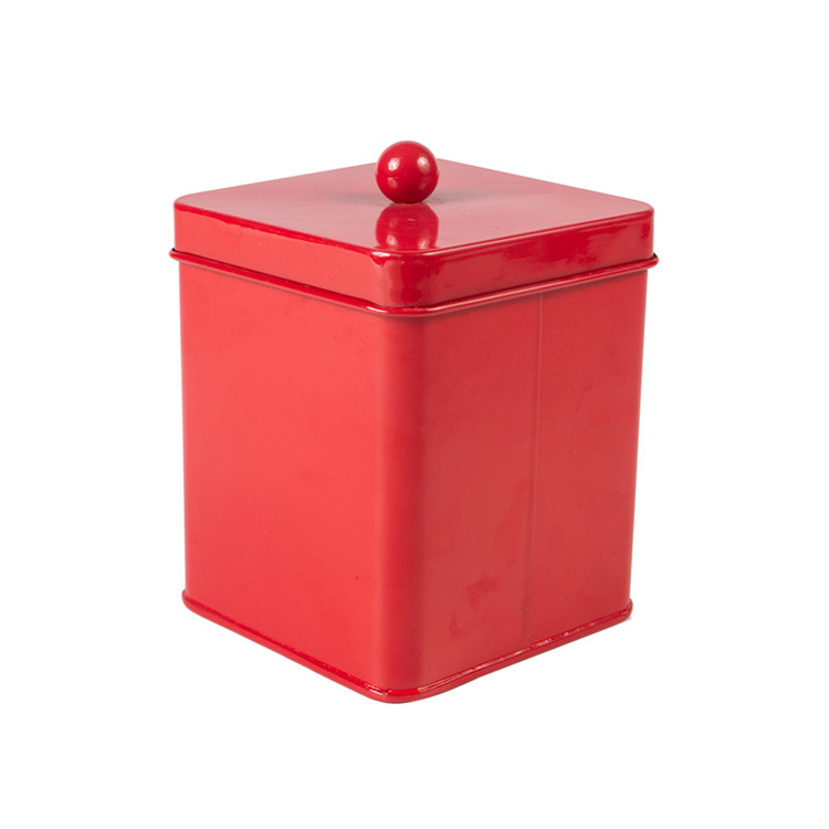 Red Tea Sugar Canister