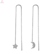 Personalized 925 China Jewelry Silver Cz Earrings