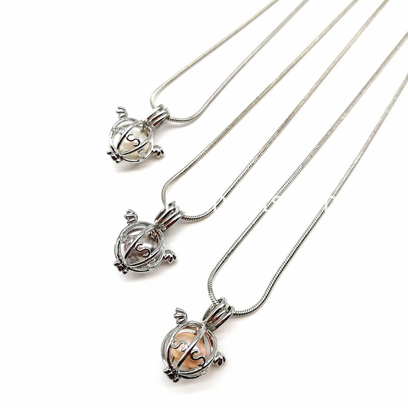 Wish Pearl Cage Pendant Necklace