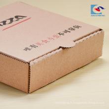 logo imprimé gratuit pliage pizza boîte d'emballage de papier avec logo