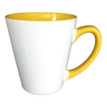 12 унций Latte керамические кружки с внутренней цвета Mejosub