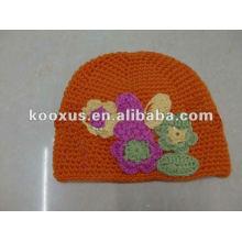 Детские шапки вязание шляпы шапочка цветок шляпа ребенок вязание крючком шляпы колпак вышивать Hat dicers