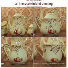Artículo promocional 2105flower de alta calidad hace en la taza de café de China de cerámica