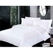 Jacquard estilo cama de hotel conjunto de cama e conjunto de folhas de cama de China fabricante