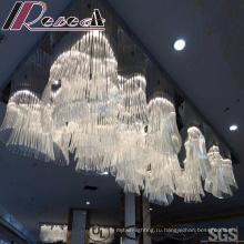 Современные и модные белые стеклянные цветы лампы кулон с отелем