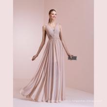 Складки Шифон Кружева Линии Длина Пола Вечернее Платье