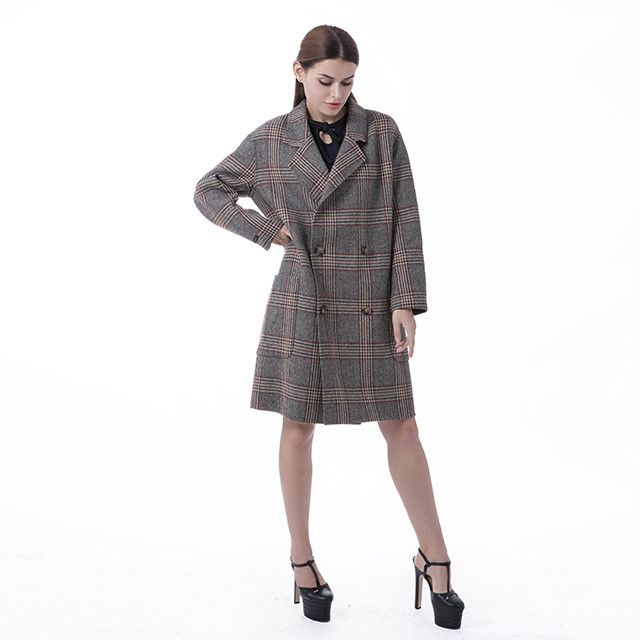 A trendy cashmere overcoat