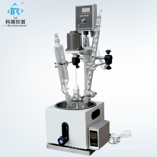 Planta piloto Reactor de vidrio de condensador de reflujo de una sola capa