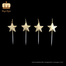 Factory Gold Star Birthday Candle Cake Wholesal