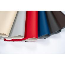 Tecido de couro para estofamento de PU macio ecológico