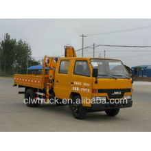 De Buena Calidad JMC 4X2 camión grúa, doble fila cabina grúa camión