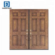 Fiberglas-Panel-Tür aus Holz Doppeltür Designs