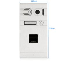 Mobile door phone WIFI intercom waterproof door camera access control and biometric fingerprint unlock system For Villa