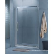 Cuarto de baño de vidrio templado deslizante ducha pantalla (H001)