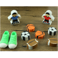 Novelty Colorful 3D Football Shoes Shaped Eraser
