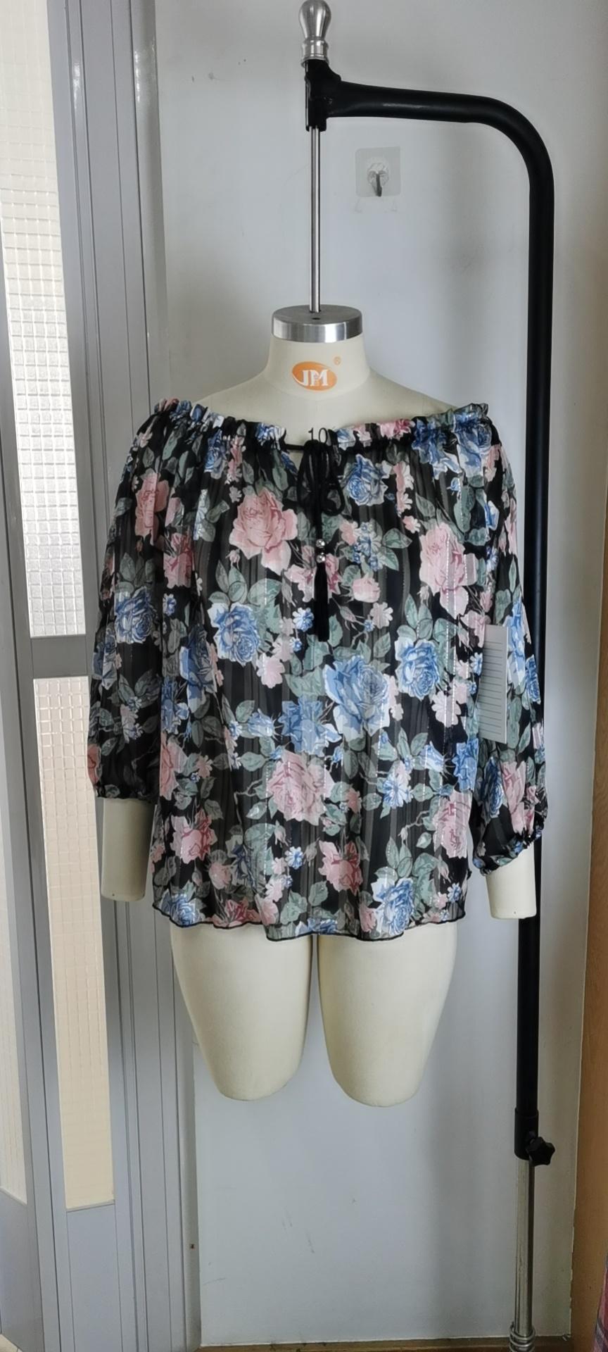Wholesale Printed Off - Shoulder Women's Tops