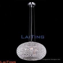 Contemporain hôtel globe pendentif lampes à manger luxe lustres en cristal 71102