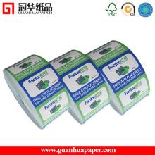 Tipo de etiqueta no molde e aceita adesivo de etiqueta de ordem personalizado