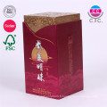 boîte de papier de vin personnalisé cardbord de haute qualité avec couvercle