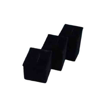 Hot Selling Black Velvet Jewelry Ring Display Stand (RST-3BF1)