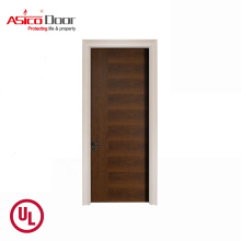 ASICO UL Listed Hotel Fire Rated Wood Door With For Interior