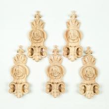 Madera maciza Estilo y adornos alemanes onlays de madera tallados a mano onlays de madera
