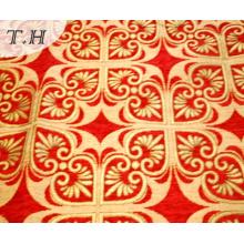 2016 Bright Red Jacquard Ribbon High-Grade Sofa Cloth (FTH31615)