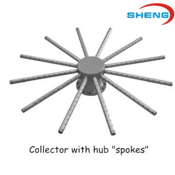 Wedge Wire Screen Collector dengan Hub Spokes