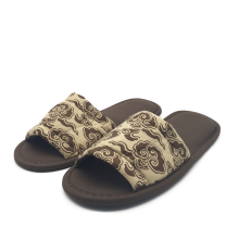 Coffee warm half-wrapped bone soles disposable slippers