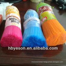 pet polyester/ pp/ pvc filament/ fibre/ bristle in crimped/ flaggable low price
