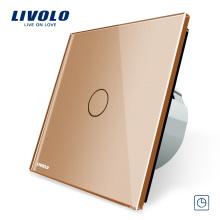 Livolo Panneau En Verre Cristal 1 GANG Minuterie Électrique Tactile Touch Control 30s Delay VL-C701T-13
