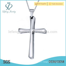 Classic old fashion stainless steel silver cross pendant jewelry