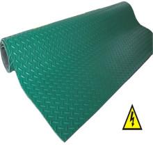 Rollo de hoja de goma antideslizante Green Checker