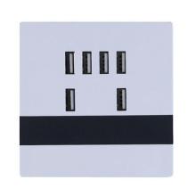 AC 110-250V 5V 6A 86 Panel 6 Ports USB Charging Wall Charger Socket