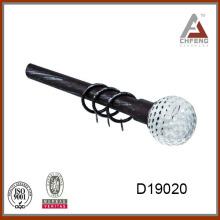 D19020 decorativo de cristal cortina de vara finial