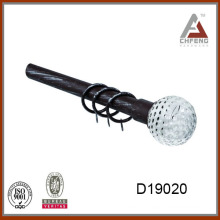 D19020 decorative glass curtain rod finial