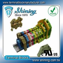 ТФ-35 евро Тип 600В 110А винтовой зажим 35мм DIN Разъем кабеля