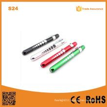 S24 Aluminum Pen Light with Pupil Gauge Doctor Medical Torch Light