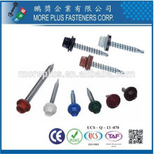 Galvanized Zinc Plated Metal Stainless Steel Hex Washer Head Color Bond Farmer Roofing Screws