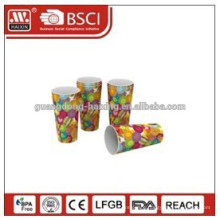 Double Wall Plastic Cups with straw