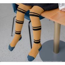 Striped Toddler Pants Leggings Cotton Kids Ribbed Tights Pantyhose