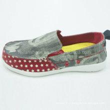 Обувь новый стиль Мужская мода скольжения на холст обувь обувь комфорт